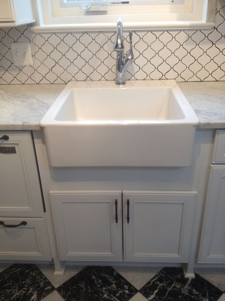 Finished Ikea Farmhouse Sink And Brizo Faucet Backsplash Is At Lowes Love The Finished Ikea Farmhouse Ikea Farmhouse Sink Ikea Farmhouse Farmhouse Sink