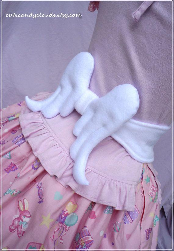 Angel wings soft ribbon tie belt angelic by CuteCandyClouds, $42.00