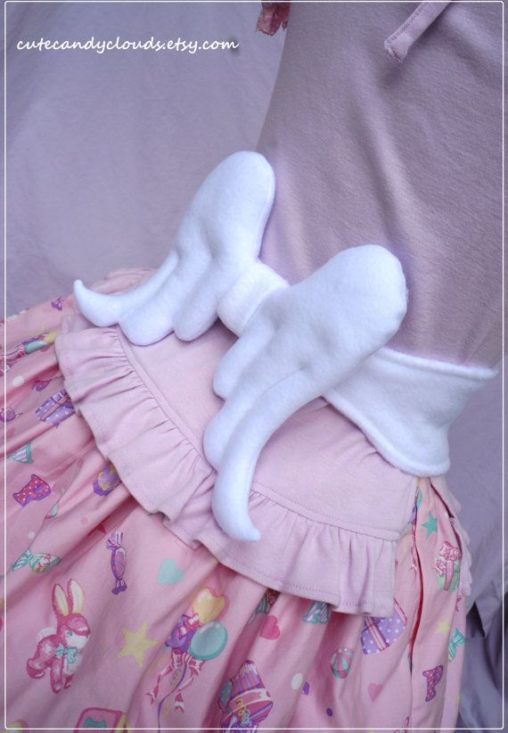 Angel wings soft ribbon tie belt angelic by CuteCandyClouds, $40.00