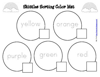 student will love this skittles math activity they will 1 learn color words by
