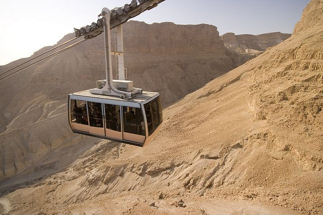 Israel: Masada Aerial Tramway  This how we got up there!