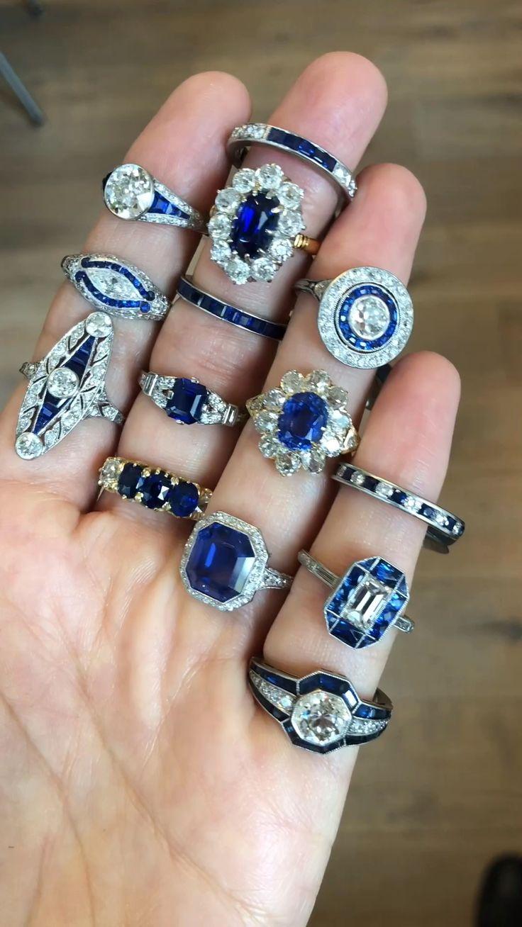 Vintage Sapphire Engagement Rings