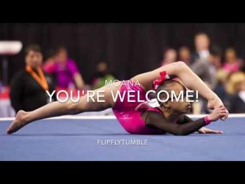 You're Welcome Moana Gymnastics Floor Music - YouTube