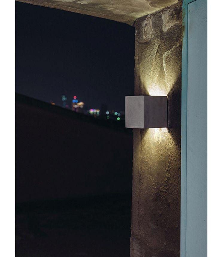 Castle Square Concrete Wall Light