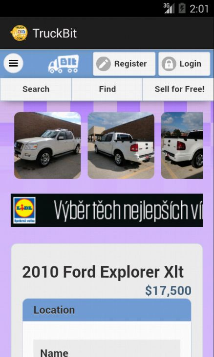 Check out our new Android App and easily find cheap trucks for sale in your area! Buy Sell or Trade New and Used Light Medium and Heavy Weight Trucks!  Makes like: International, Freightliner, Ford, Kenworth, Peterbilt, Mack, Volvo, Gmc, Chevrolet, Sterling, Isuzu, Western Star, Hino, Dodge, Mitsubishi Fuso, Mercedes-benz, Volkswagen.  https://play.google.com/store/apps/details?id=com.truckbit.app