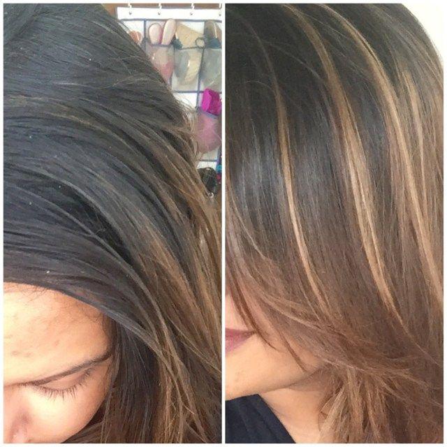 Best At Home Highlighting Kit For Dark Hair Xoxokaymo Long Hair Highlights Diy Highlights Hair Home Highlights Hair