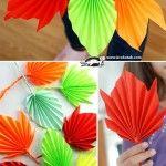 Есенни листа от хартия