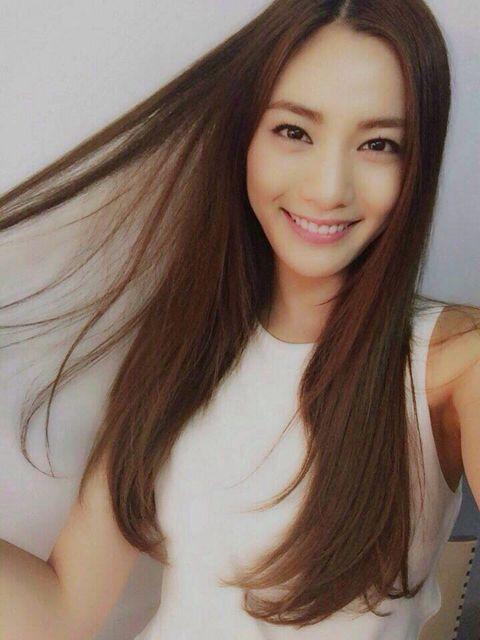 nana after school - long brown hair natural makeup
