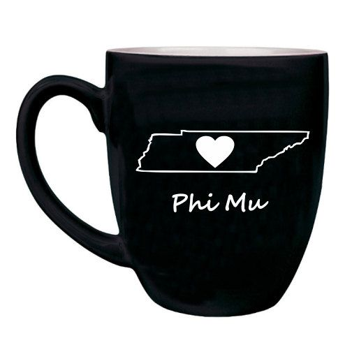 Phi Mu Sweet Home Bistro Mug on sale for just $19.95! Just choose your state and tell them where youre from! You'll find the best selection & lowest prices on sorority sweet home bistro mugs at Greek Gear.