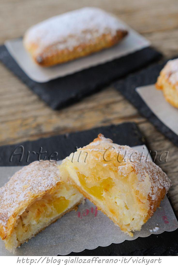 Sfogliatine di mele e ricotta ricetta dolce veloce vickyart arte in cucina