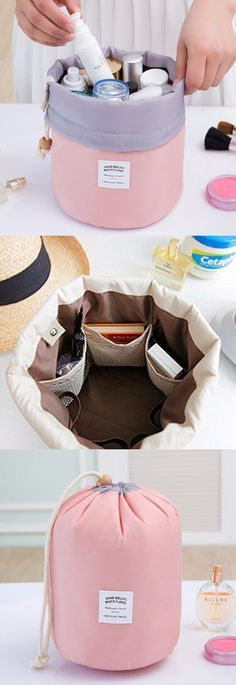 A really handy way to keep those bottles together when travelling.  Love this travel bag.