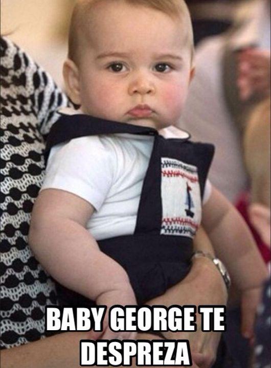 Bebê George ganha tumblr com piadas sobre as caretas dele em fotos - Kzuka