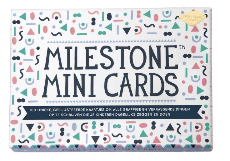 Milestone Mini Cards NL - 100 kaartjes om alle grappige en legendarische uitspraken en acties van je kinderen op te schrijven!