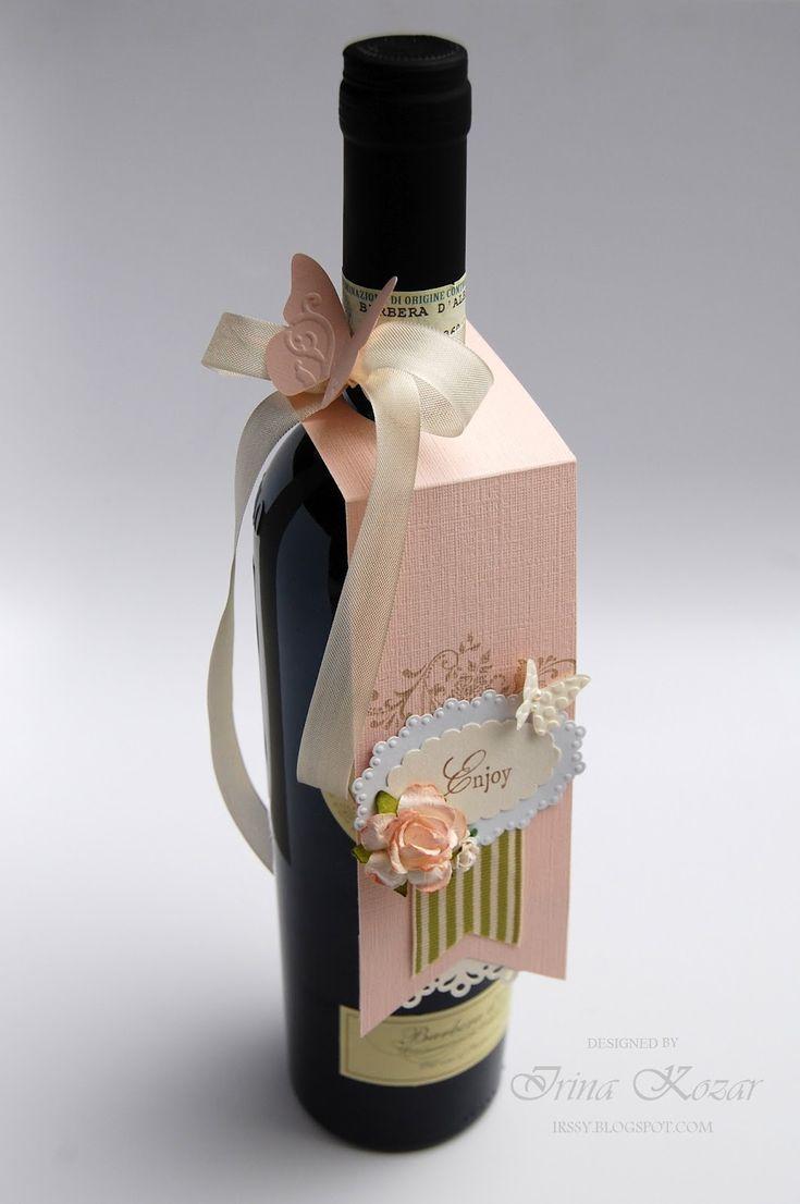 Открытка для бутылки