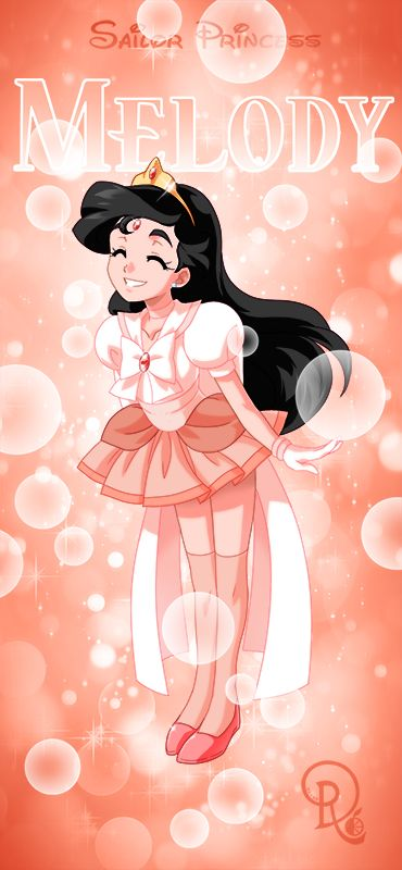 sailor princess melody pink -rather coral- version by drachea rannak