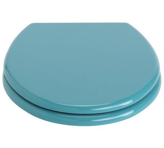 buy colourmatch toilet seat teal at argoscouk visit argos toilet seatsbathroom accessorieshome