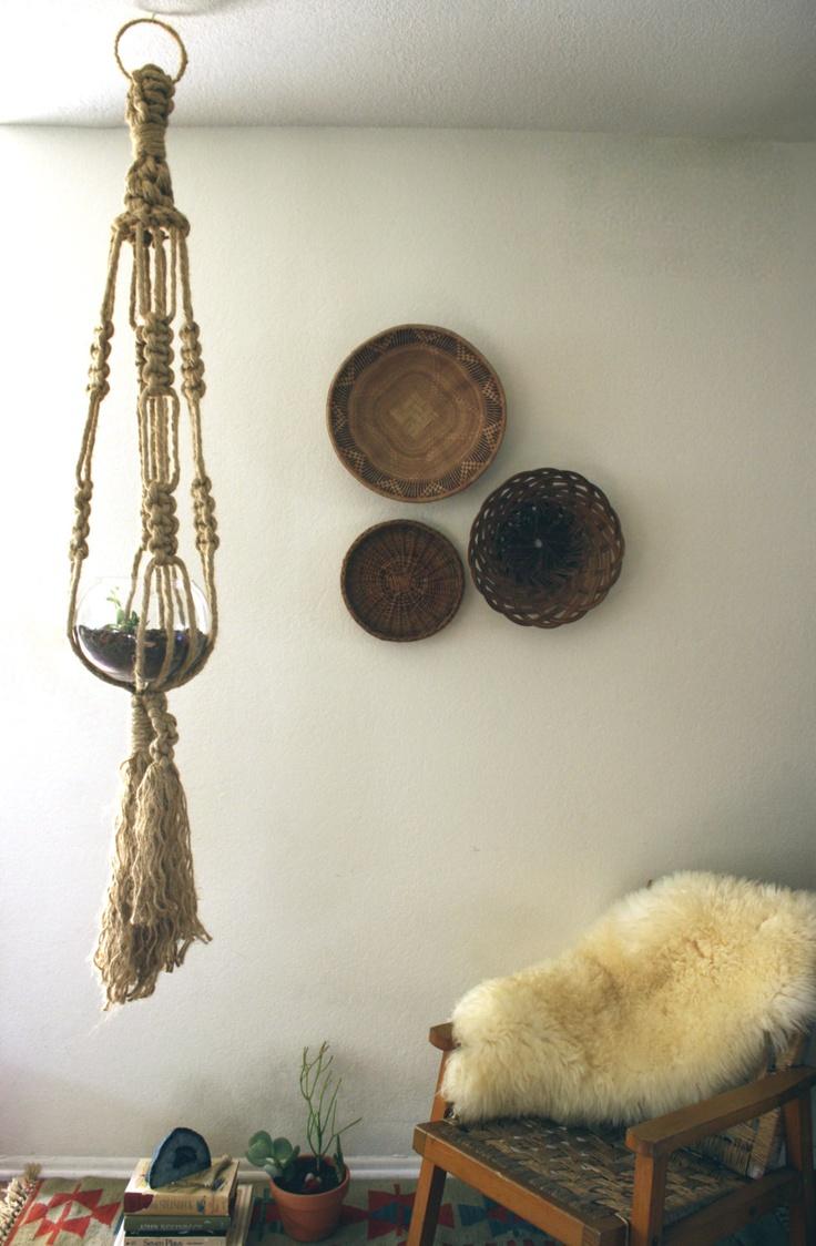 etnico estilos detalles cestas en la pared cestas colgantes jardineras colgantes colgadores de plantas macram espacios sagrados interior bohemio