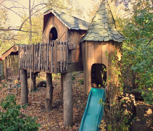 This is our treeless treehouse castle it s inspired by for Treeless treehouse