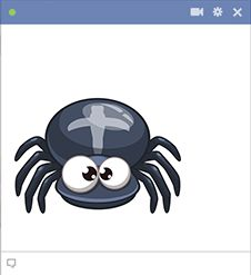 Surprise someone on Facebook with this little spider.