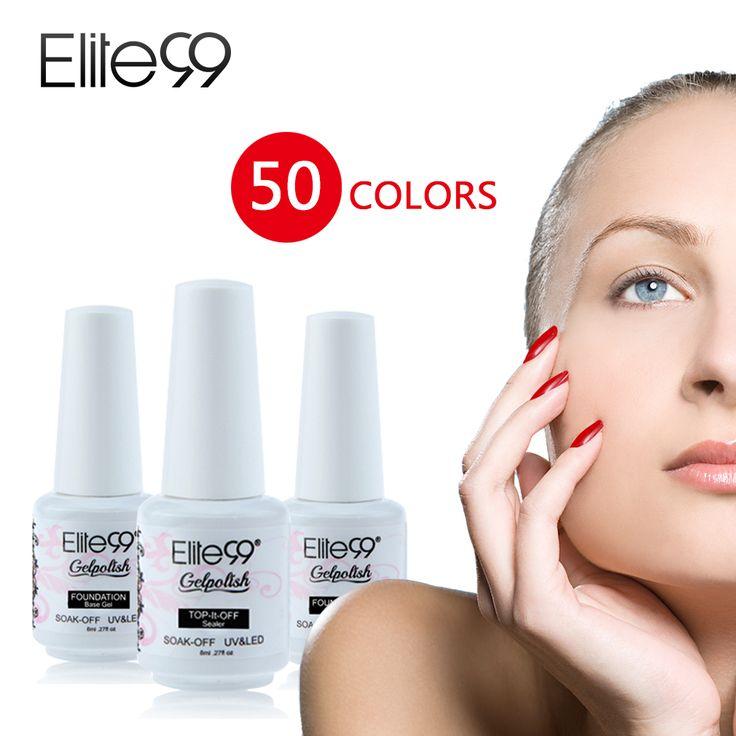 Elite99 Esmalte de Una Gel Multicolor Top Base Coat Soak Off UV LED Manicura 8ml #Affiliate
