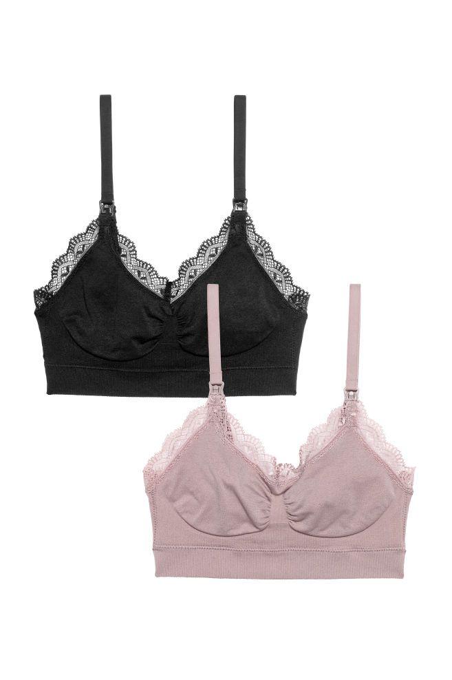 417958c4001 MAMA 2-pack soft nursing bras - Black Mole - Ladies