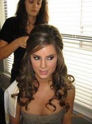 wedding hairHair Down, Hair Ideas, Half Up, Bridesmaid Hair, Prom Hair, Bridal Hair, Hair Style, Pretty Hair, Wedding Hairstyles