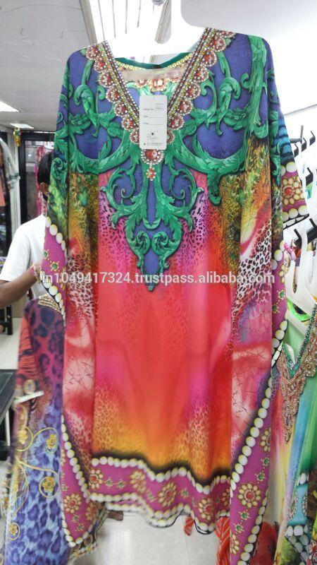 Latest Design Digital Print Kaftan For Ladies. - Buy Kaftans For ...