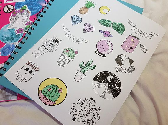 Sketch Aesthetic Stickers | Aesthetic stickers, Black stickers