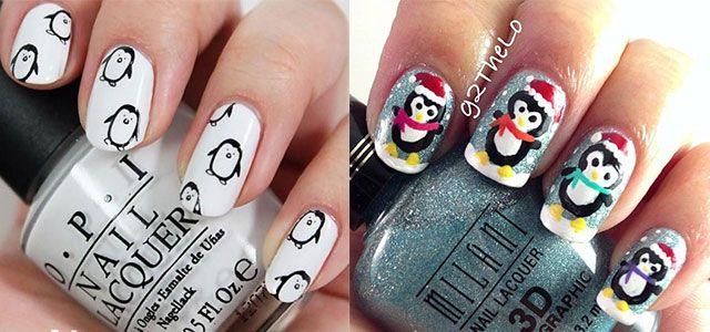 Simple-Penguin-Nail-Art-Designs-Ideas-2013-2014