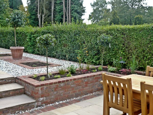 57 best small walled garden images on pinterest decks landscaping long thin garden design crowthorne berkshire workwithnaturefo