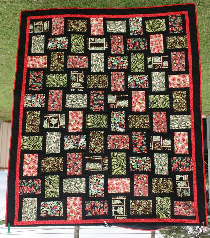 My kiwiana quilt made from fabrics purchased in New Zealand.