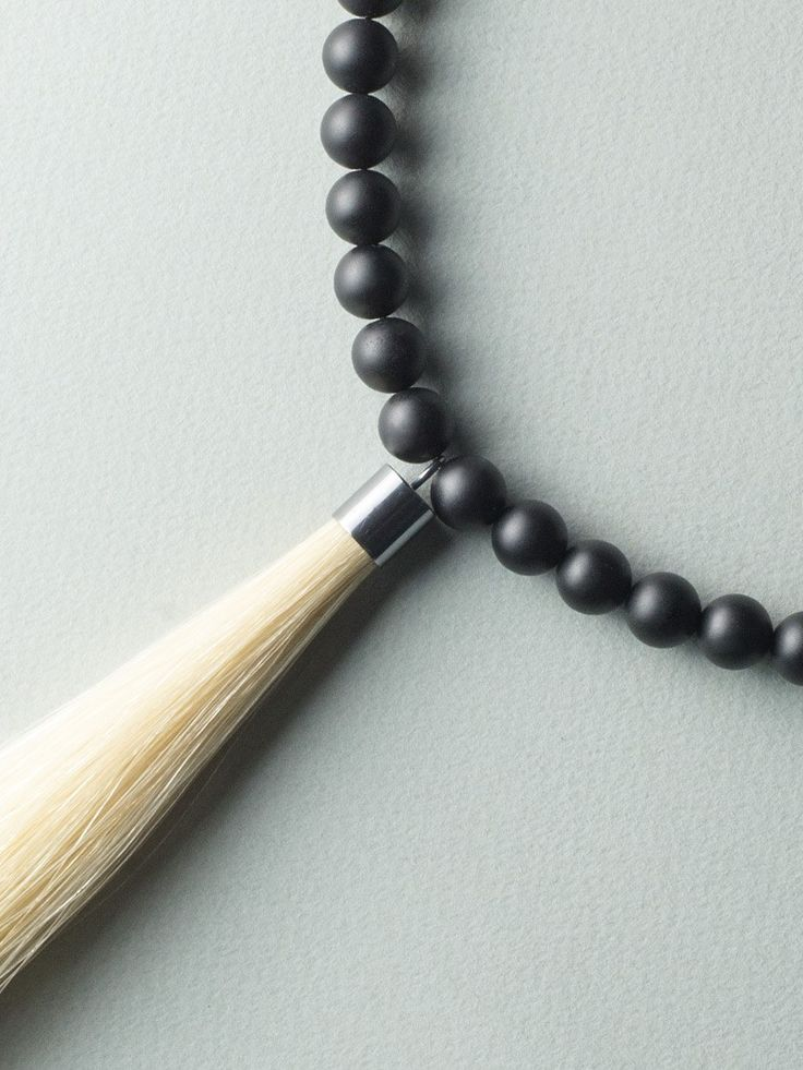 Simple Tail Necklace by Carla Szabo #jewelry #design #details
