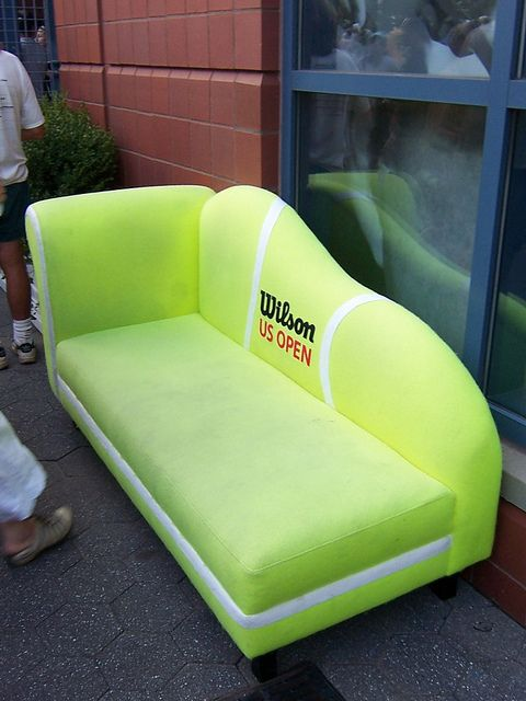 Tennis ball sofa. For the basement or new house?