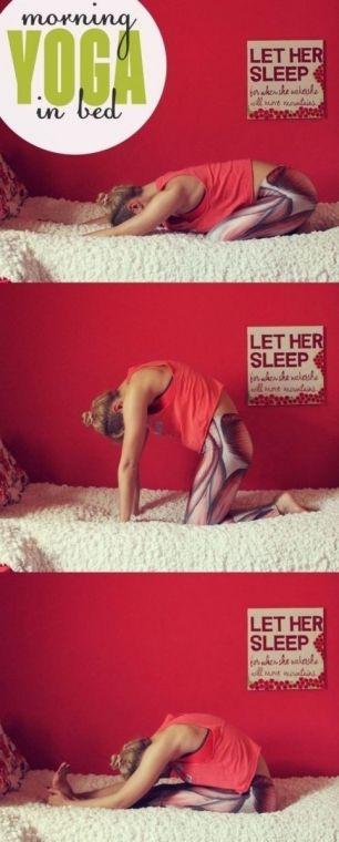 йога в кровати