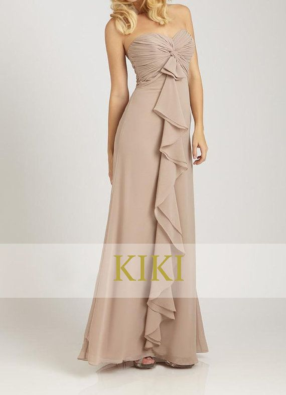Beige/blush long prom/party/evening/bridesmaid/dress by KikiStory, $95.00