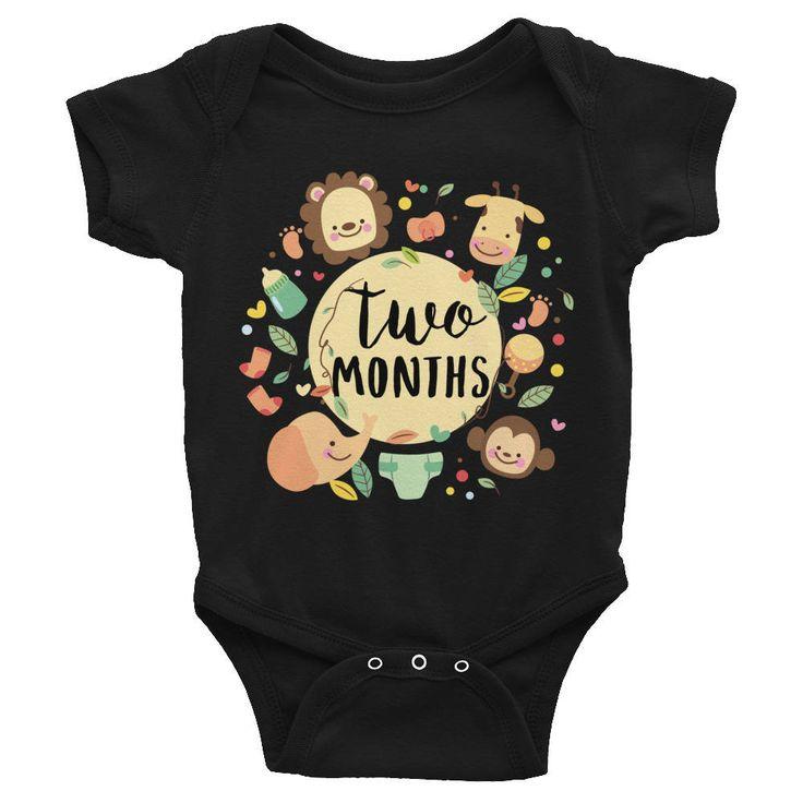 Two Months Milestone Onesie Infant Bodysuit, 2 Months Baby Bodysuit, Monthly onesie, Month by Month Bodysuit, Baby Monthly Onesie, Monthly http://etsy.me/2F7mTes #clothing #children #bodysuit #monthlyonesie #babymonthlyonesie #twomonths #milestone #onesie #infantbodysu