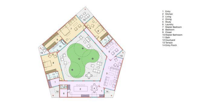 Floor plan of the ASAP•house L 2.6 modern prefab home