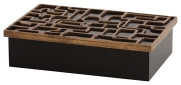 Arteriors 4040 Piper Large Box - contemporary - Decorative Boxes - Lighting Front