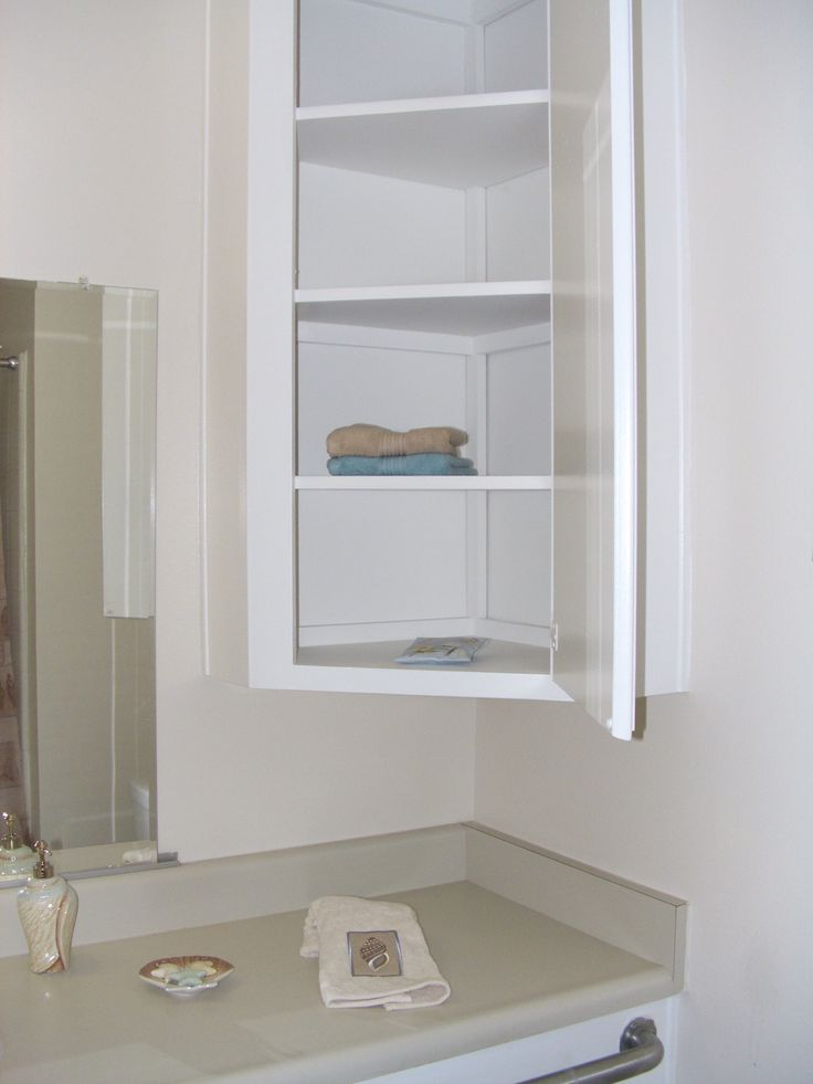 Furniture Wall Mounted Bathroom Corner Cabinet With Shelf