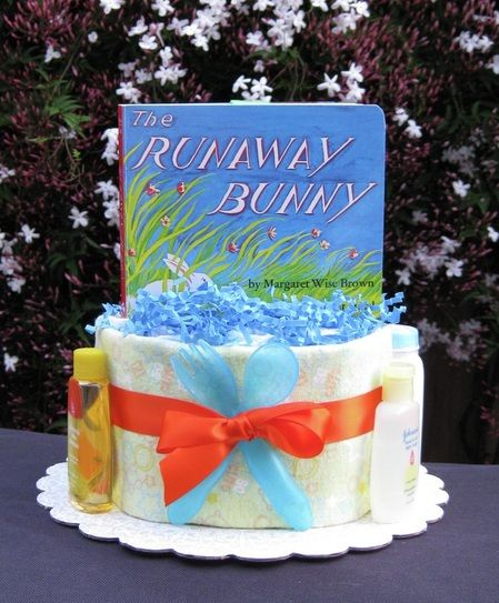 Diaper Book Cake