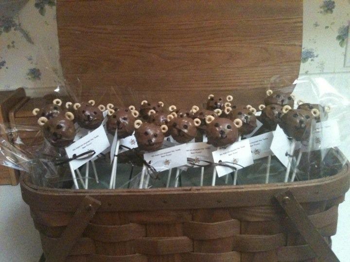 Teddy bear picnic cake pops I made!
