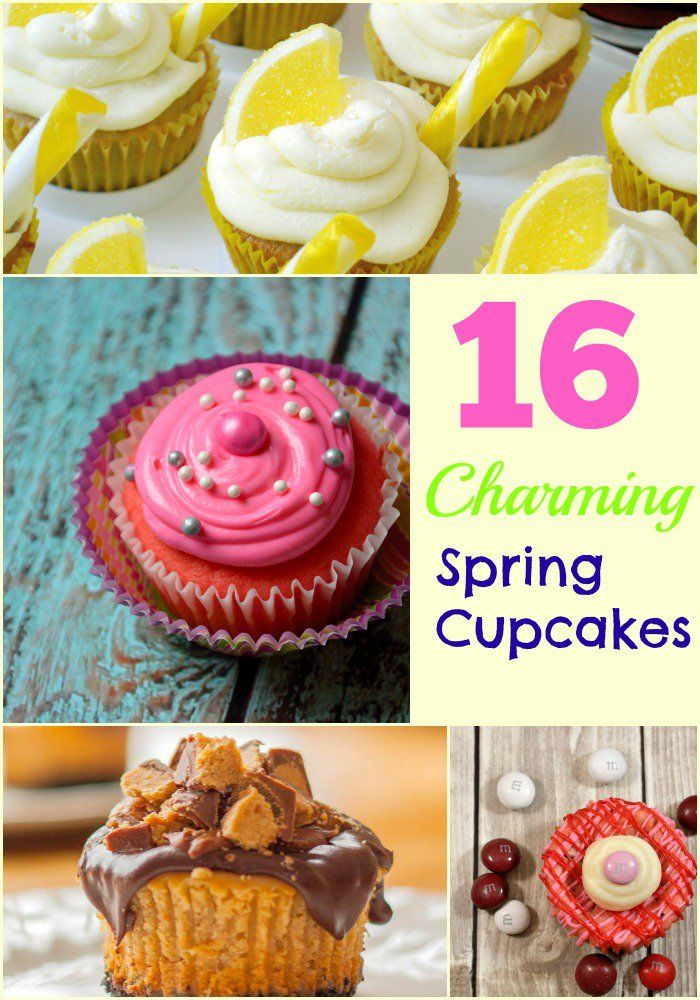 16 Charming Spring Cupcakes- looking for something to bring to a graduation party? Work pot luck? Check out these AH-mazing cupcakes!