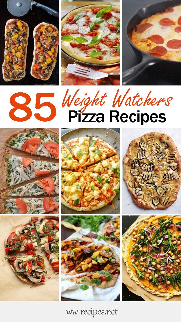 Weight Watchers Recipes • The Ultimate List of Weight Watchers Pizza Recipes with Points - 85 Healthy Pizza Recipes to Choose From