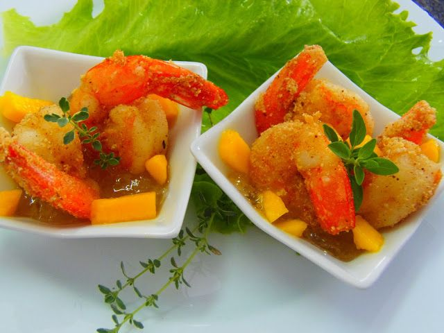 COZINHA COM ESTILO: Finger Food: Camarão frito com géleia e manga