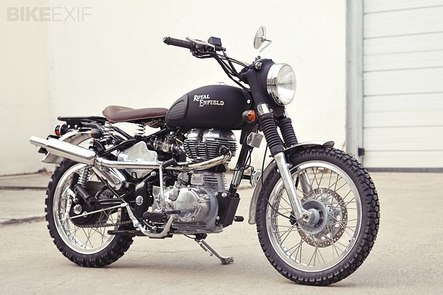 In Paris, the main Royal Enfield dealer is Tendance Roadster. They're based in Levallois-Perret, near the old Clément-Bayard factory where Citroën built the 2CV. Dealer principal Guillaume Tirard is a fan of custom bikes too, and after a weekend getting bogged down in mud during a forest ride, he decided to modify a Bullet Electra Deluxe.
