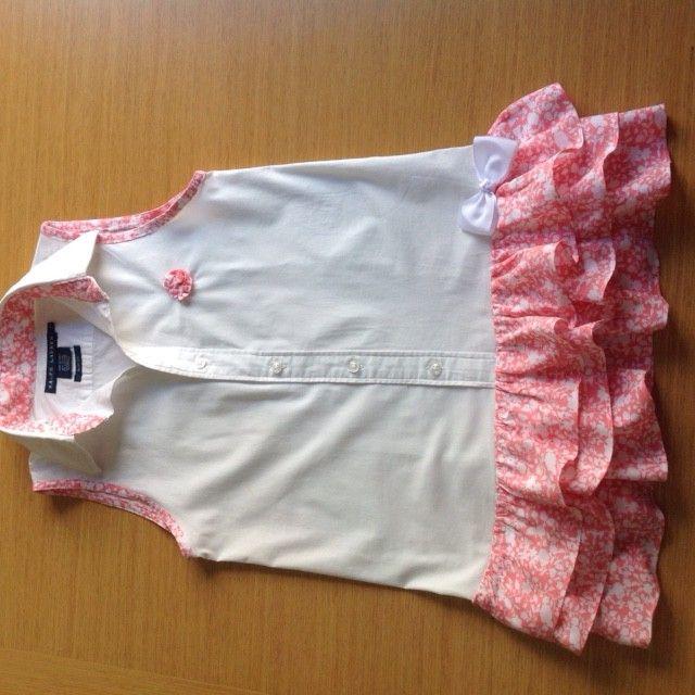 Vestido para niña con una camisa