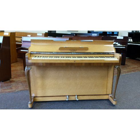 Kemble Second Hand Kemble Minx Upright Piano in Birdseye Maple