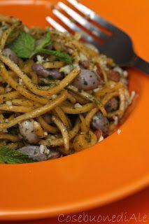 CosebuonediAle: insalata di spaghetti di zucca con borlotti fresch...