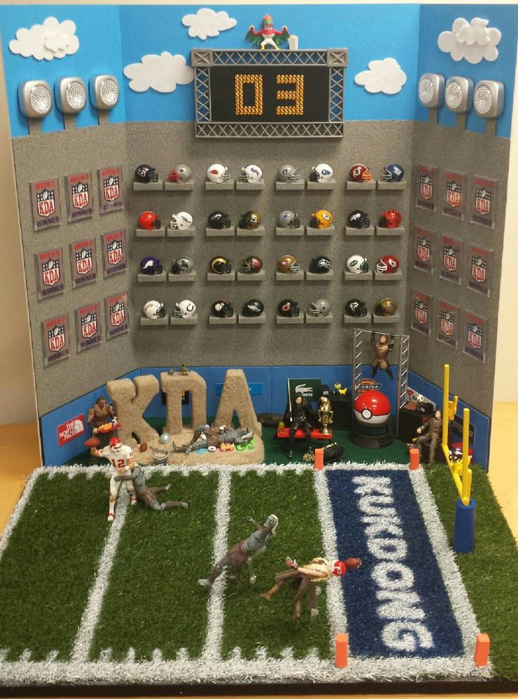 NFL Artwork. Company display for fun football game competitions.Pokemon and Game of Thrones playing football.