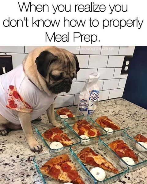 When you realize you don't know how to properly meal prep